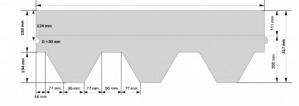 Схема гонта KATEPAL KL (Классик)