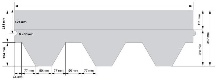 Схема гонта KATEPAL Katrilli