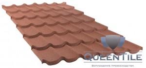 Лист «QueenTile» 6-тайловый Технические характеристики: Длина - 2150 мм; Ширина - 1150 мм Покрываемая площадь листа - 2,473 кв. м. Эффективная площадь листа - 2,310 кв. м. Высота волны - 60 мм Расход - 0,43 шт/кв. м. Вес листа – 13,82 кг.